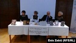 Sa konferencije za medije povodom otvorenja Andrićevog kutka u Zagrebu