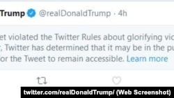 Твіт президента Дональда Трампа, перекритий Твітером. 29 травня 2020 року