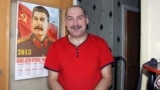 Miner Konstantin Rimenov, an unabashed Stalinist, has worked in the mines around Vorkuta for 27 years.