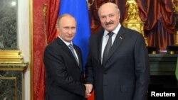 Уладзімер Пуцін і Аляксандар Лукашэнка сёньня ў Крамлі