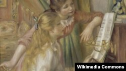 П'ер Агюст Рэнуар, «Маладыя дзяўчаты пры піяніна», 1892.