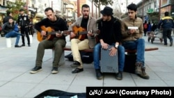Street musicians in Iran. Undated. File photo