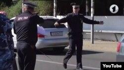 Приднестровская милиция на месте аварии в Парканах