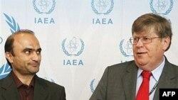اولی هاینونن و جواد وعیدی در دور دوم مذاکرات ایران و آژانس بین المللی انرژی اتمی حضور داشتند