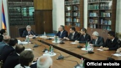 Armenia -- President Serzh Sarkisian chairs a meeting at the Court of Cassation, 31Aug2012.