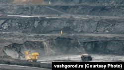 Угольный разрез на территории, где раньше жили шорцы
