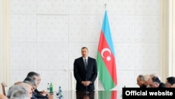 Azerbaijan -- President Ilham Aliyev presides over a Cabinet meeting, 13Jul2010