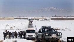 مراسم بخاک سپاری یک ملکی افغان