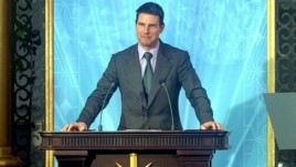 Actor Tom Cruise at the opening in 2004 of Spanish headquarters of the Church of Scientology in Madrid