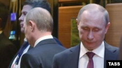 Ռուսաստանի նախագահ Վլադիմիր Պուտինը Մինսկում, 12-ը փետրվարի, 2015թ․