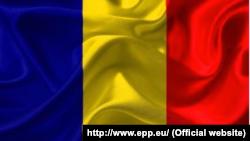 Drapelul României publicat în comunicatul oficial al PPE, 21 decembrie 2017.