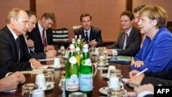 Встреча Владимира Путина и Ангелы Меркель