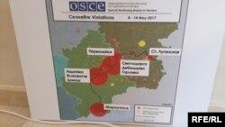 Інфографіка районів, де найбільше обстрілів на лінії зіткнення на Донбасі