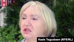 "Президент прессозащитной организации ""Адил соз"" Тамара Калеева. Алматы, 3 мая 2011."
