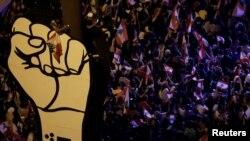د لبنان د مظاهرو یو انځور