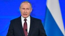 Владимир Путин во время послания Федеральному Собранию. 20 февраля 2019 года