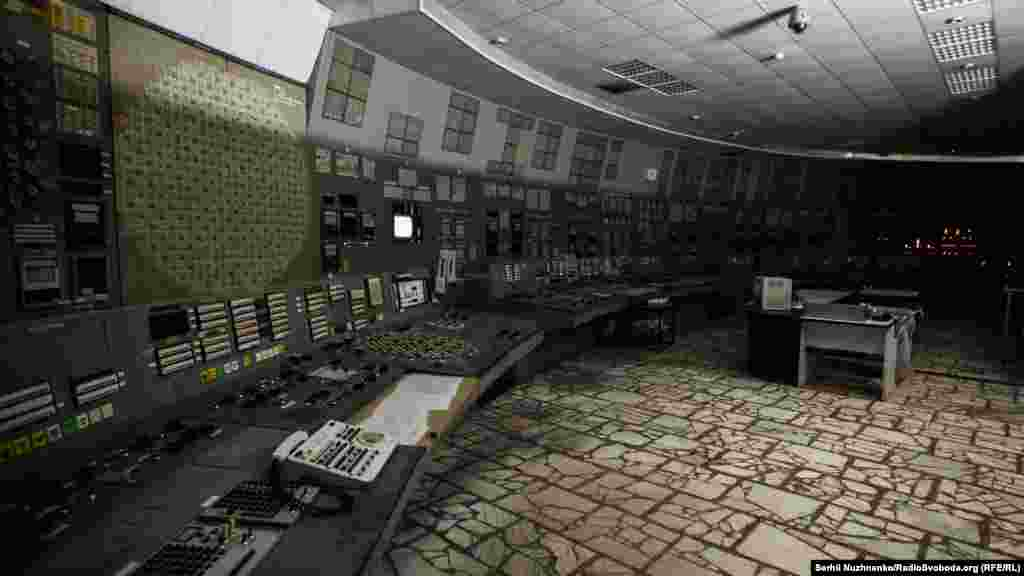 The control room of the third block of the Chernobyl nuclear plant