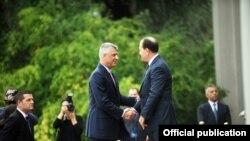 Presidenti i Kosovës Hashim Thaçi dhe ai i Shqipërisë, Bujar Nishani