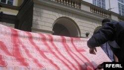 Під час акції львівської молоді «Нам ніде...», 22 червня 2009 р.