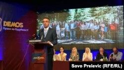 Goran Danilović na skupu Demosa u Mojkovcu