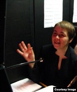 Екатерина Поспелова за режиссерским столом
