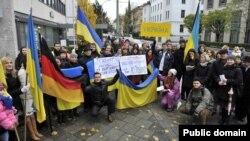 Євромайдан в Мюнхені, 27 листопада 2013 року (фото з Facebook Katja Kudin)