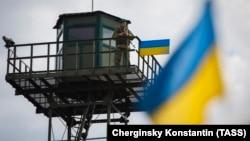 Граница между Украиной и Россией в Харьковской области (архивное фото)