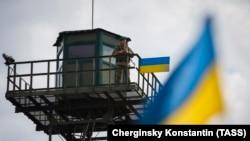 Граница между Украиной и Россией в Харьковской области (архивное фото).