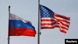 پرچم ایالات متحده و روسیه