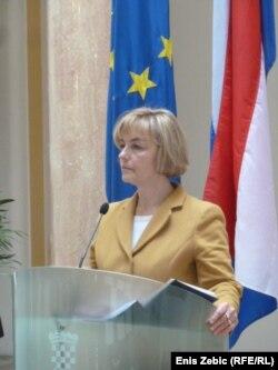 Vesna Pusić prilikom susreta sa ministrom vanjskih poslova Nizozemske, 5. ožujka 2012.