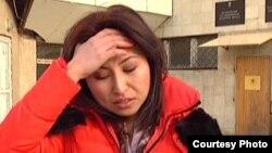 КТРК кабарчысы Ширин Асанакунова сабалгандан кийин, 7-январь, 2013.