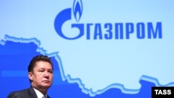 Gazprom CEO Aleksei Miller attends the annual general meeting of the company's shareholders in Moscow in June.