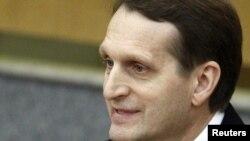 Спикер Государственной думы России Сергей Нарышкин. Москва, 21 декабря 2011 года.