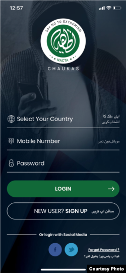 "The app called Chukas -- Urdu for ""alert"" aims to help Pakistani citizens to report hate and extremist propaganda."