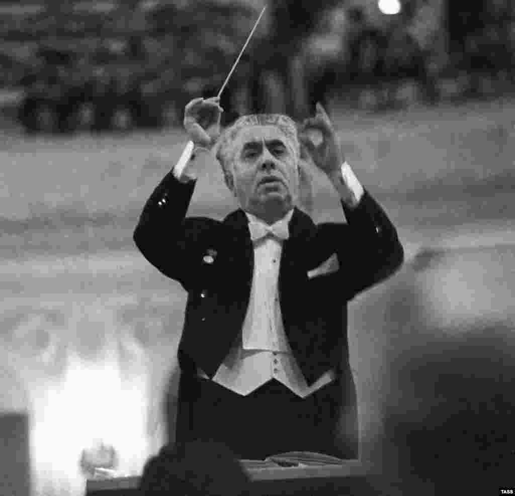 Conductor and composer Aram Khachaturian in 1972