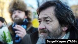 Sergei Mokhnatkin attends a rally in Moscow in December 2012.