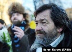 Сергей Мохнаткин на митинге на Лубянке, 2012 год