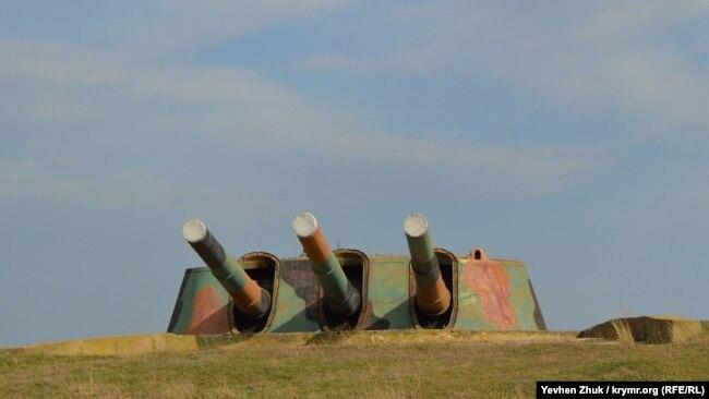 Стволы орудий законсервированы
