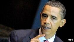 Президент Обама БУУнун Башкы Ассамблеясынын 64-сессиясында сүйлөөдө.
