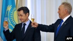 Президент Франции Николя Саркози и президент Казахстана Нурсултан Назарбаев. Астана, 6 октября 2009 года.
