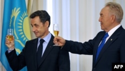 Николя Саркози и президент Казахстана Нурсултан Назарбаев в Астане