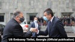 ԱՄՆ պետքարտուղար Մայք Փոմփեոն և Վրաստանի վարչապետ Գեորգի Գախարիան