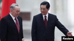 Нұрсұлтан Назарбаев пен Ху Цзинтаоның кездесуі. Пекин, 22 ақпан 2011 жыл.