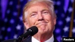 АҚШ-тың жаңадан сайланған президенті Дональд Трамп. Нью-Йорк, 9 қараша 2016 жыл.