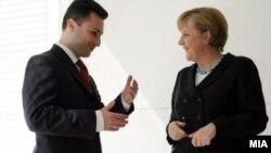 Архивска фотографија: Премиерот Никола Груевски и германската канцеларка Ангела Меркел.