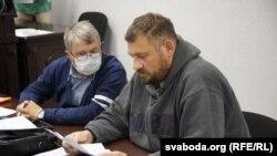 Сяргей Ціханоўскі на судзе ў Гомелі 19 траўня 2020 году