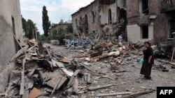 Грузинский город Гори после авиаудара российских самолетов