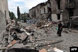 Наслідки російських бомбардувань у Ґорі. 9 серпня 2008 року
