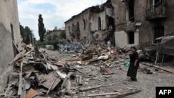 Руйнування після російського бомбардування у грузинському місті Ґорі, 9 серпня 2008 року