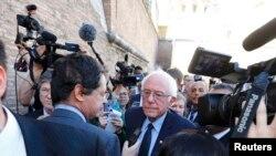Watikan, Berni Sanders media bilen gürleşýär, 15-nji aprel, 2016